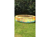 Paddling pool with ball pit balls