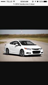 2014 Honda Civic White Coupe (2 door)