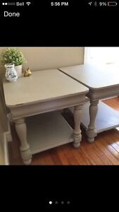 Gorgeous refinished end tables