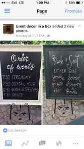 Chalk boards for rent