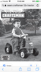 My First Craftsman Ride On Tractor