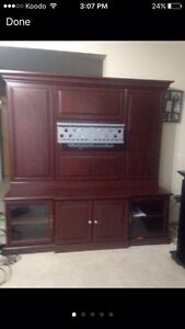 Entertainment unit that holds up to a 70 inch TV