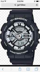 G-Shock Model GA110BW-MINT CONDITION