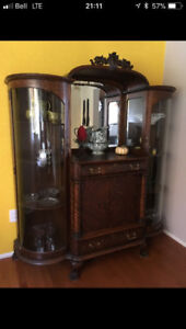 One of a Kind Antique China Cabinet