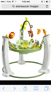 Jungle theme exersaucer