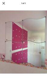 Set of 4 IKEA Krabb Wavy Mirrors