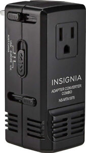 Insignia - All-In-One Travel Adapter-Converter - Black