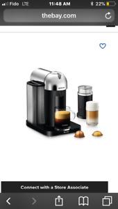 Perfect condition Nespresso virtuoline espresso/coffee maker