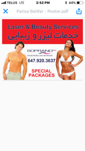 Promotion for laser and skin treatment