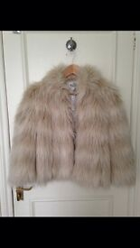 Reiss fur coat size Medium BRAND NEW WITH TAGS