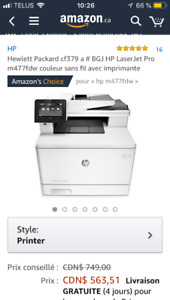 Imprimante Hp M477fdw couleur