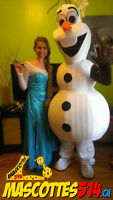 Animation / Visite OLAF (TM) fête d'enfant? MASCOTTE Frozen