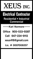 Licenced electrician and general contracting