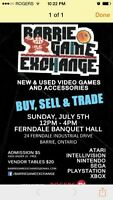 Barrie game swap. This Sunday 12-4