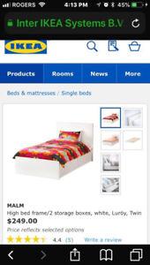 MALM Ikea Bed - Twin