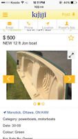 NEW Jon boat 12 ft