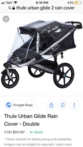 Double stroller cover