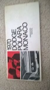 1970 Dodge Polara Monaco Operators Manual and 1978 (see below)
