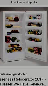 Looking for a no freezer refrigerator