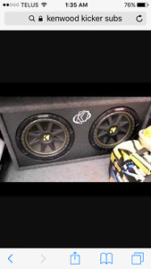 "Dual 10"" kenwood kicker subs comes with 2500 watt amp"