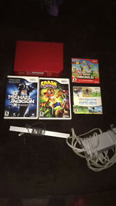 Nintendo Wii with 4 games