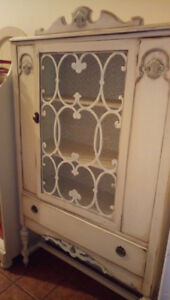 Beautiful Antique White, Wood Cabinet