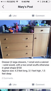 Dresser for sale (real wood) London Ontario image 1