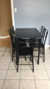 MUST GO: Simple dining room table with 5 chairs