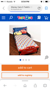Disney cars bed & accessories