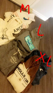AE and Hollister Men's Hoodies, size M to L