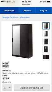 IKEA Morvik Wardrobe for sale - great condition, used 8 months
