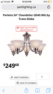 Hampton BayContemporary 5-Light Chandelier in Nickel