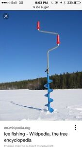 Manual Ice Auger and Spoon