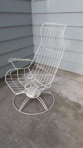 Rare Mid Century 1960's Homecrest High Back Lounge Chair Ottoman London Ontario image 2