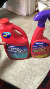 Steam cleaning carpet spray and cleaner barely used