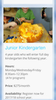 Preschool and jr. kindergarten spaces available