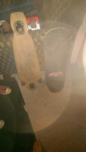 Longboard and skateboard. $90 obo
