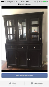 Black Hutch and Buffet