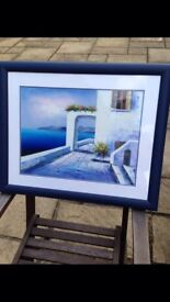 Greek oil painting, professionally framed