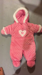 Cherokee Baby girl snow suit brand new 3/6
