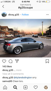 Wanted grey/silver/black g35 coupe Clean engine and body