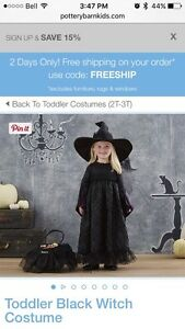Pottery Barn Witch Costume 3T