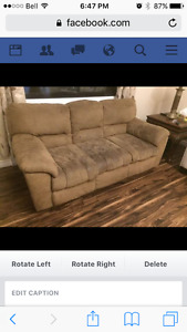 Love seat and chair in fair condition