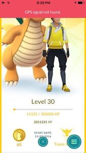 Level 30 pokemon go account(full pokedex)