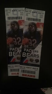NFL TICKETS CHICAGO BEARS VS GREEN BAY PACKERS