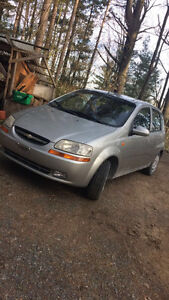 2004 Chevy Aveo, safetied etested, low km