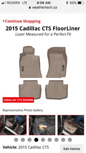 Weathertech Laser Cut Floormat for 2015 CADILLAC CTS