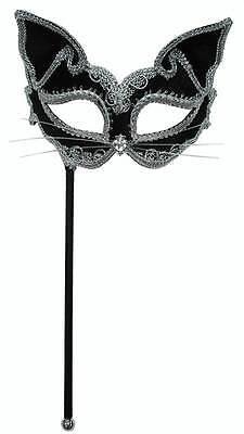 CAT-MASKE AUF STICK, MASQUERADE EYE MASK #DE (Stick Auf Masken)