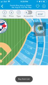 Blue Jays Tickets  Saturday Aug 25th Jays vs Philly
