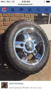 22 Inch chrome 6 bolt Chevy 35 inch tires